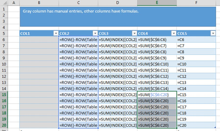 Why you should use structured references in tables - Excel