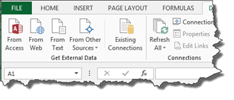 """How to Import Access Data to Excel Using the """"Get External"""