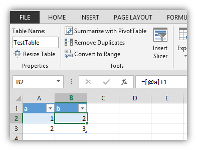 How do Excel tables remember formulas - Excel and Access